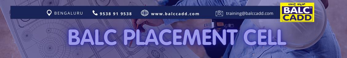 AutoCAD training institute - BALC Placement Cell Bengaluru